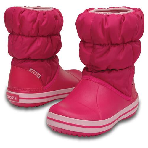 Crocs Winter Puff - Bottes Enfant - rose sur campz.fr !